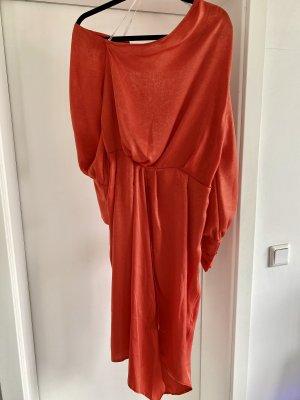 Asos Robe asymétrique orange fluo-orange