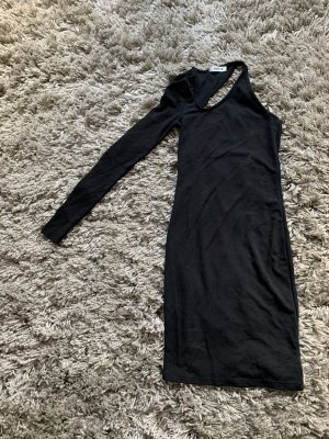 Edited One Shoulder Dress black