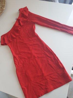 H&M Divided Sukienka na jedno ramię czerwony