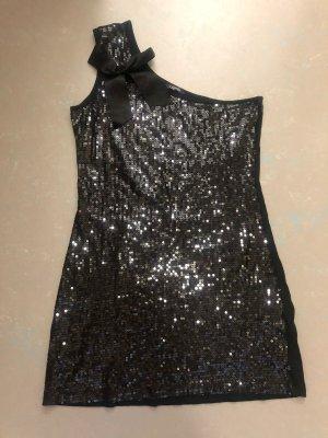 Robe asymétrique noir coton