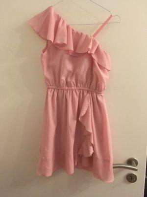 One-Shoulder rosa Kleid