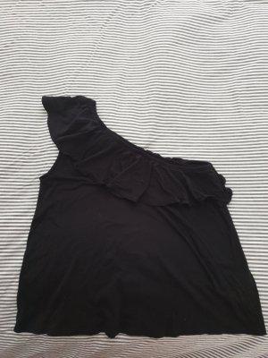 H&M L.O.G.G. Haut avec une épaule dénudée noir