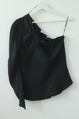 Zara Camisa de un solo hombro negro
