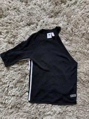 Adidas Eénschoudershirt zwart-wit