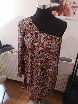 Zara Sukienka na jedno ramię Wielokolorowy