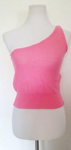 Top de un solo hombro rosa-rosa claro