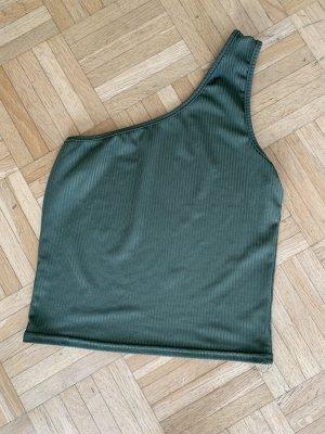 Haut avec une épaule dénudée kaki-vert forêt