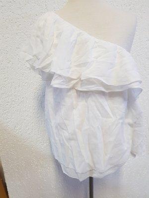 one-shoulder top in weiss gr. 34 unbenutzt