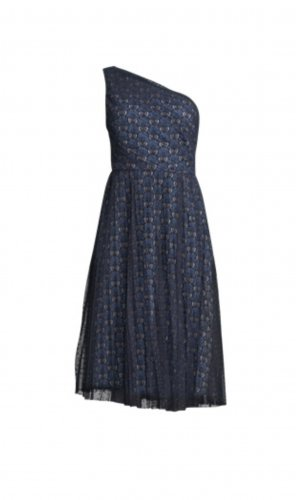 Lawrence Grey Vestido de un hombro negro-azul