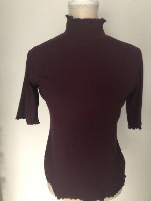 Reken Maar Turtleneck Shirt bordeaux cotton