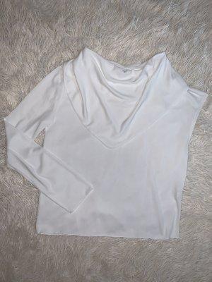 Zara Camisa de un solo hombro blanco