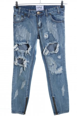 One teaspoon 7/8 Jeans blau Casual-Look