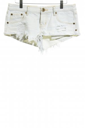 One teaspoon Hot Pants hellbeige Destroy-Optik