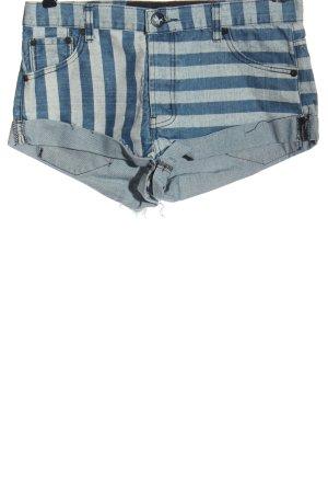 One teaspoon Pantaloncino di jeans blu-grigio chiaro stampa integrale