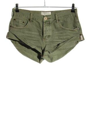 One teaspoon Pantaloncino di jeans cachi motivo a righe stile casual