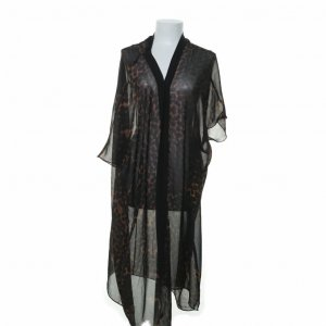 One teaspoon Kimono blouse zwart-grijs-bruin