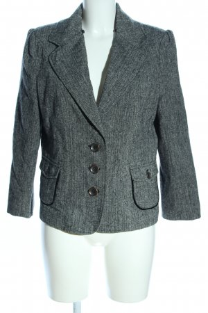 One Touch Kurz-Blazer hellgrau Allover-Druck Business-Look