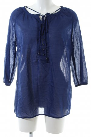 One Touch Langarm-Bluse blau Casual-Look
