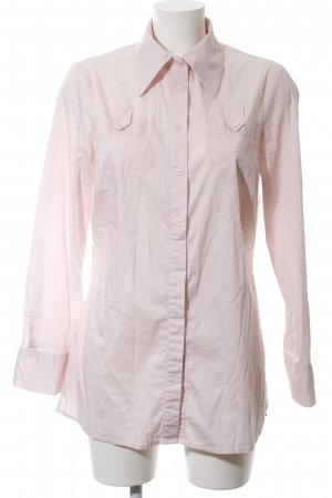 One Touch Long Sleeve Blouse pink business style