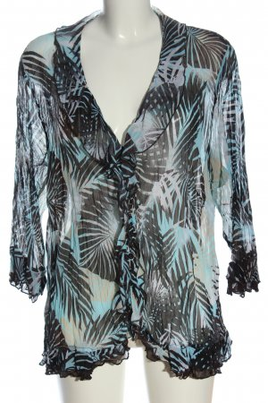 One Touch Long Sleeve Blouse allover print casual look