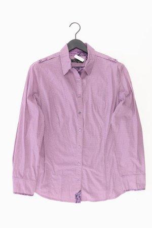 One Touch Long Sleeve Blouse lilac-mauve-purple-dark violet cotton