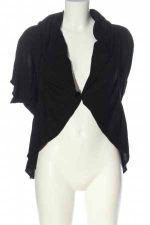 One Touch Boléro en tricot noir imprimé allover style décontracté