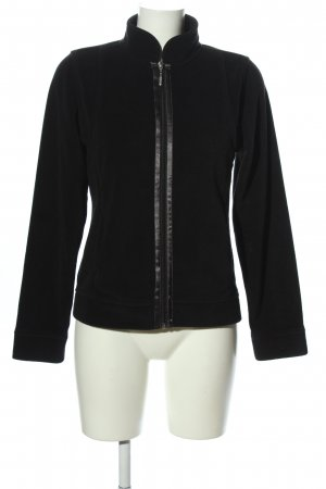 One Touch Sweatjack zwart casual uitstraling