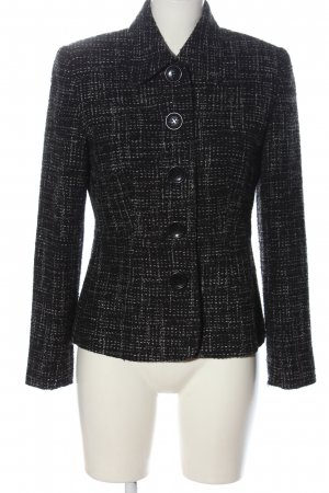One Touch Tweed Blazer black-white allover print business style