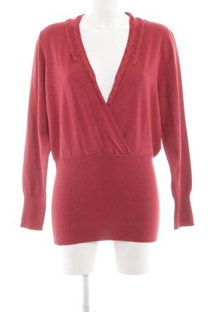 One Touch V-Ausschnitt-Pullover rot Elegant