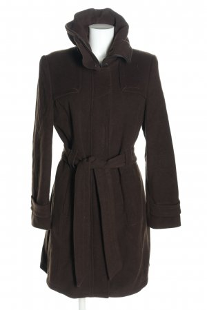 One Touch Wool Coat brown business style