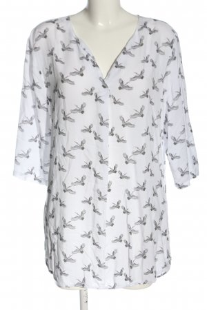 One Two Luxzuz Long Blouse white-black allover print casual look