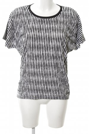One Two Luxzuz T-Shirt schwarz-weiß Streifenmuster Casual-Look