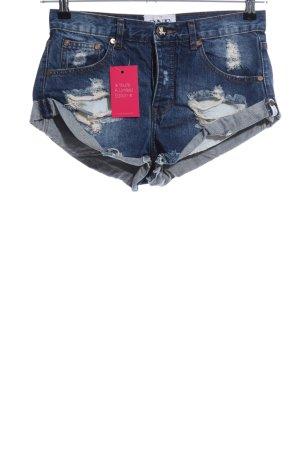 One x Oneteaspoon Hot Pants blau Casual-Look