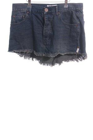 One x Oneteaspoon Jeansrock dunkelblau-graubraun Casual-Look