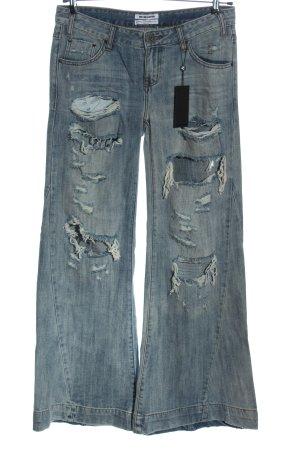 One x Oneteaspoon Jeansschlaghose blau Casual-Look