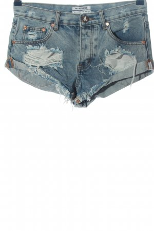 One x Oneteaspoon Jeansshorts blau Casual-Look