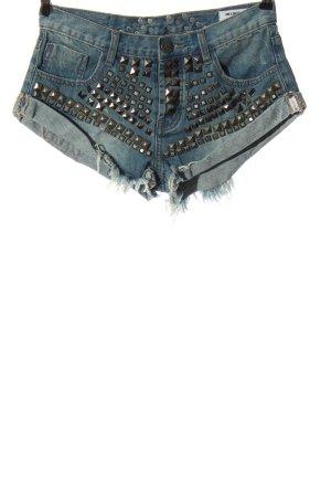 One x Oneteaspoon Jeansowe szorty niebieski W stylu casual