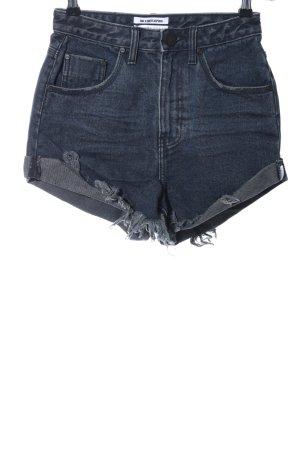 One x Oneteaspoon Jeansshorts dunkelblau Casual-Look
