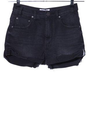 One x Oneteaspoon Short en jean noir style décontracté