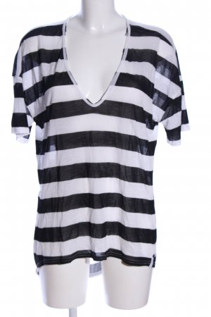 One x Oneteaspoon Oversized Shirt schwarz-weiß Streifenmuster Casual-Look