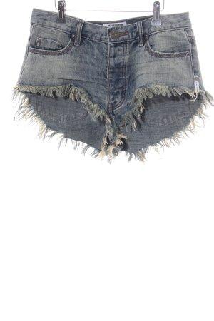 One x Oneteaspoon Shorts hellgrau Casual-Look