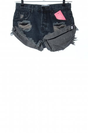 One x Oneteaspoon Shorts blau Casual-Look