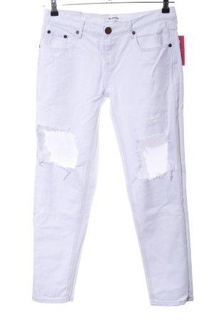 One x Oneteaspoon Slim Jeans weiß Casual-Look