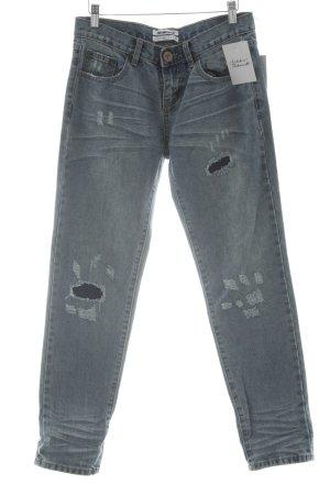 One x Oneteaspoon Straight-Leg Jeans mehrfarbig Destroy-Optik
