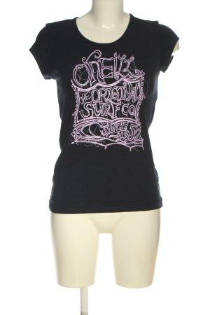 ONEILL Print-Shirt schwarz-pink Motivdruck Casual-Look