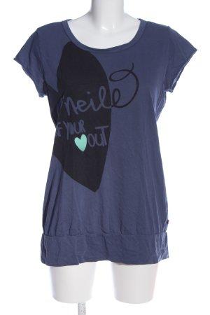 ONEILL Print-Shirt blau-schwarz Motivdruck Casual-Look