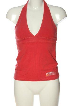 ONEILL Top senza maniche rosso stile casual