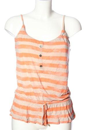 ONEILL Top de tirantes finos naranja claro-crema estampado a rayas look casual