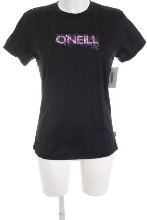 ONEILL Sportshirt schwarz-pink sportlicher Stil