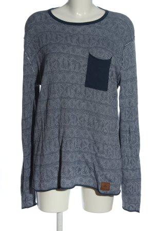 ONEILL Maglione lavorato a maglia blu motivo a righe stile casual